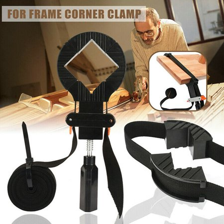 Yosoo Corner Clamp Band Strap,Multi-function Adjustable Corner Clamp Band Strap 4 Jaws Picture Frame Holder Woodworking Tool Support a Multitude of Shapes, Like Rectangular, Round, Polygon and Square (Corner Picture Holders)