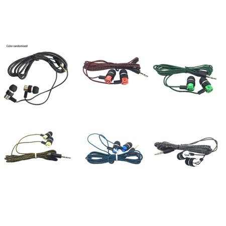 Braided Wiring Plating Headset Line K Song Mobile Phone Mp3 Headset Universal - image 2 of 8