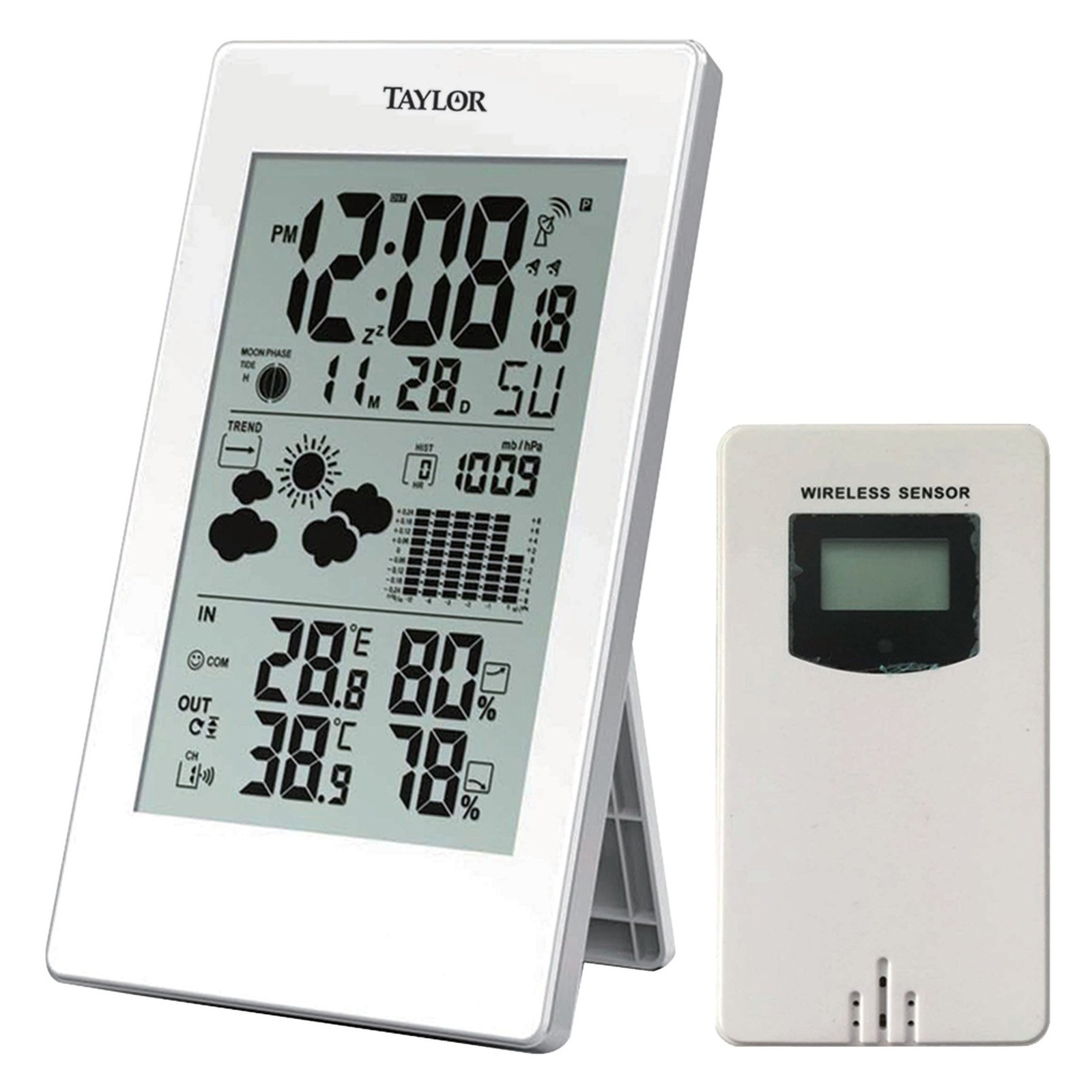 Taylor Digital Weather Forecaster with Barometer and Alarm Clock