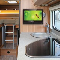 """Supersonic SC-9913 13.3"""" 720P Widescreen LED HD TV/DVD Combination, AC/DC Compatible With RV/Boat"""