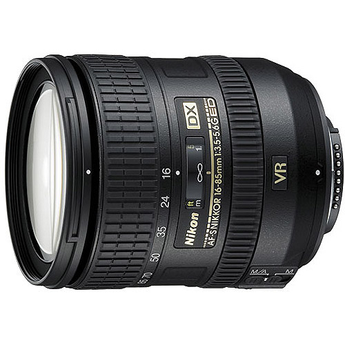 Nikon Nikkor 16-85mm Zoom Lens features VR Image Stabilzation; f/3.5-5.6, AF-S (#2178)