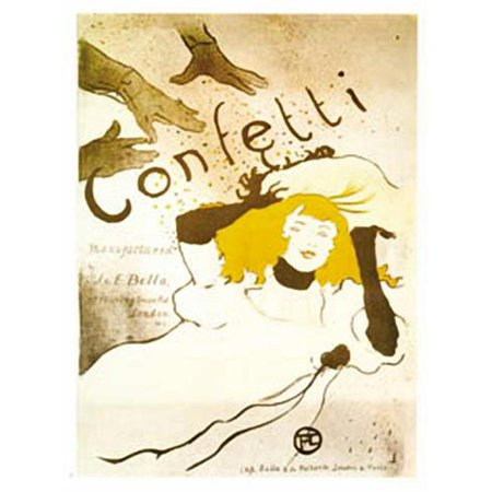 Hot Stuff 2043-16x20-AD Confetti Poster - image 1 of 1