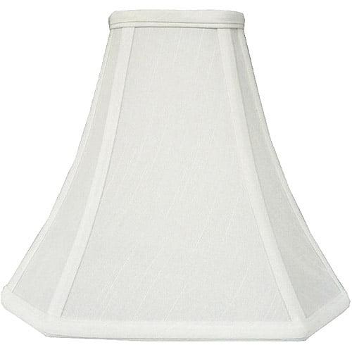 Better Homes and Gardens Geneva White Cut Corner Bell Accent Shade