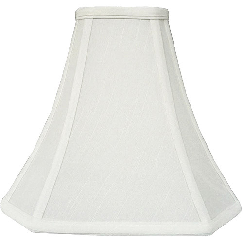 Better Homes and Gardens Geneva White Cut Corner Bell Accent Shade
