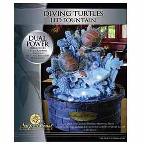 Newport Coast Collection Diving Turtle Fountain by