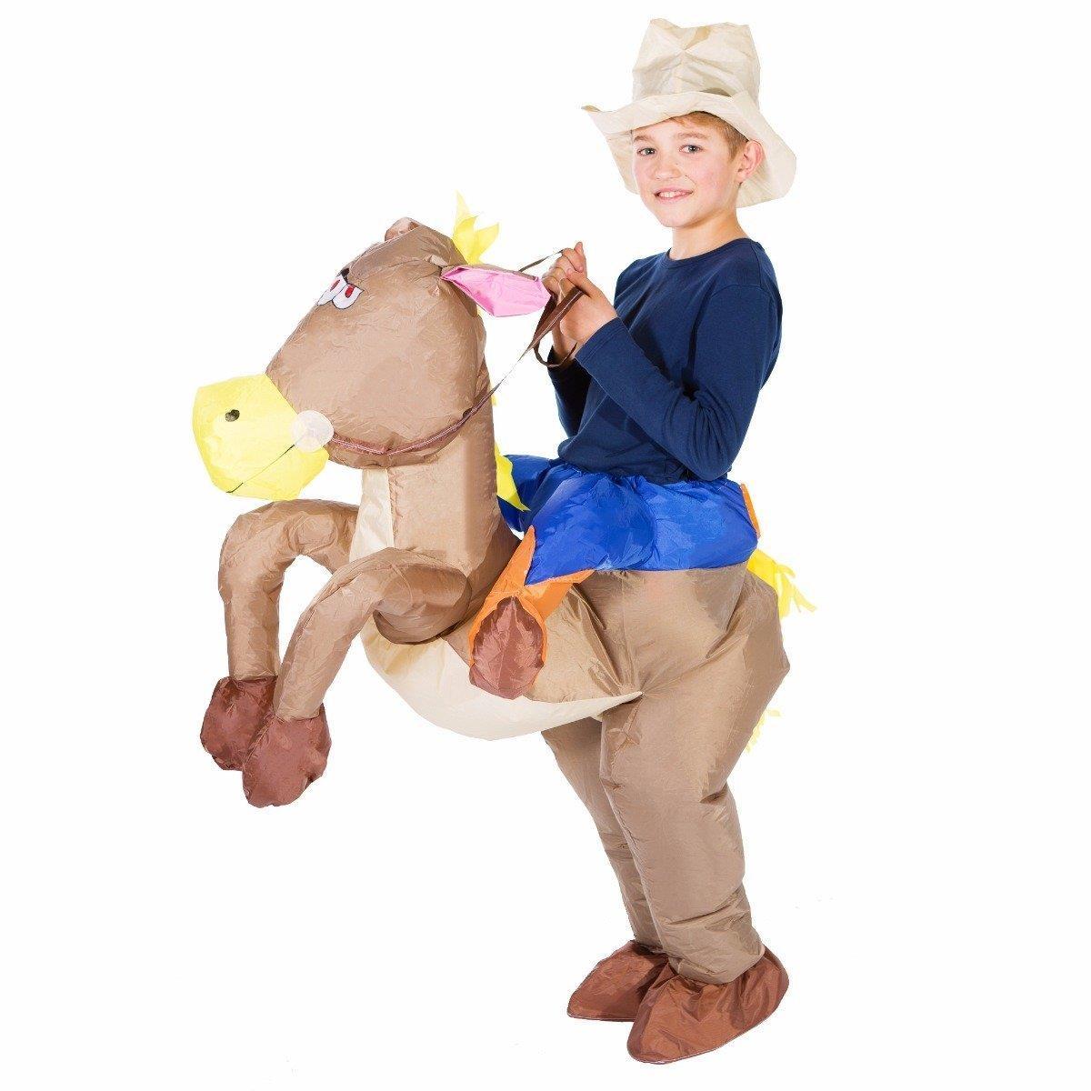 Cowboy Horse Inflatable Size O S Kids Animal Costume Bodysocks Walmart Com Walmart Com