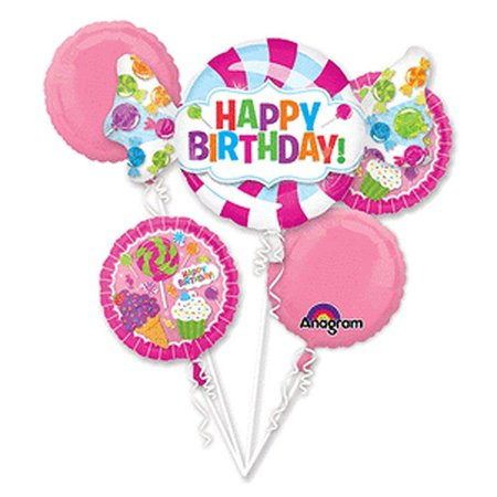 Sweet Shop Happy Birthday Foil Balloon Bouquet, - Balloons Shop