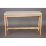 SMI F1848-28RF Natural Oak Wood Reference Table, 18 X 48 in.
