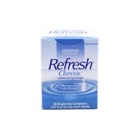 2 Pack - Refresh Eye Drops Individual Dose 30 Single Use Containers