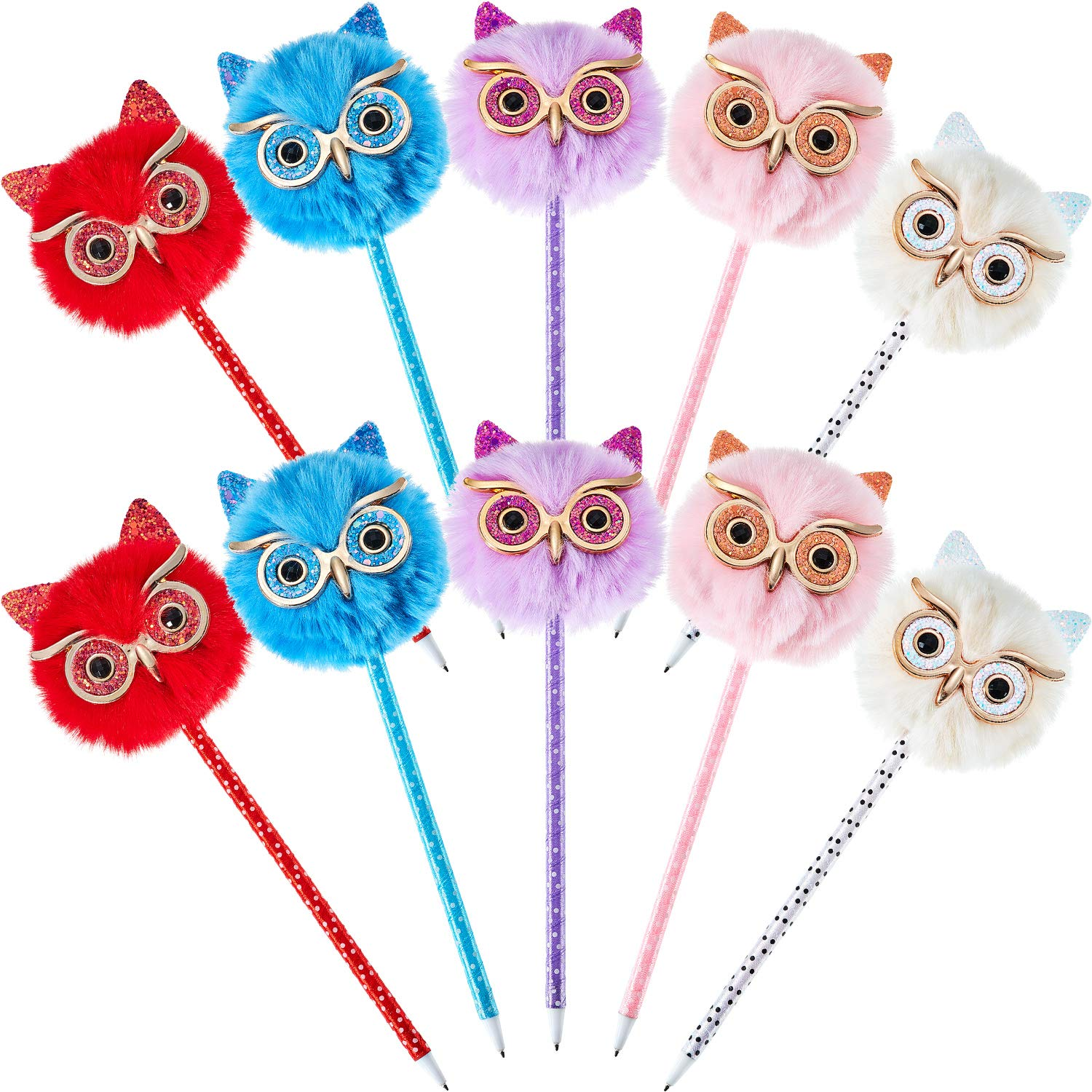 Pack of 10 Colourful Cute Owl Design Ready to Write with Envelopes