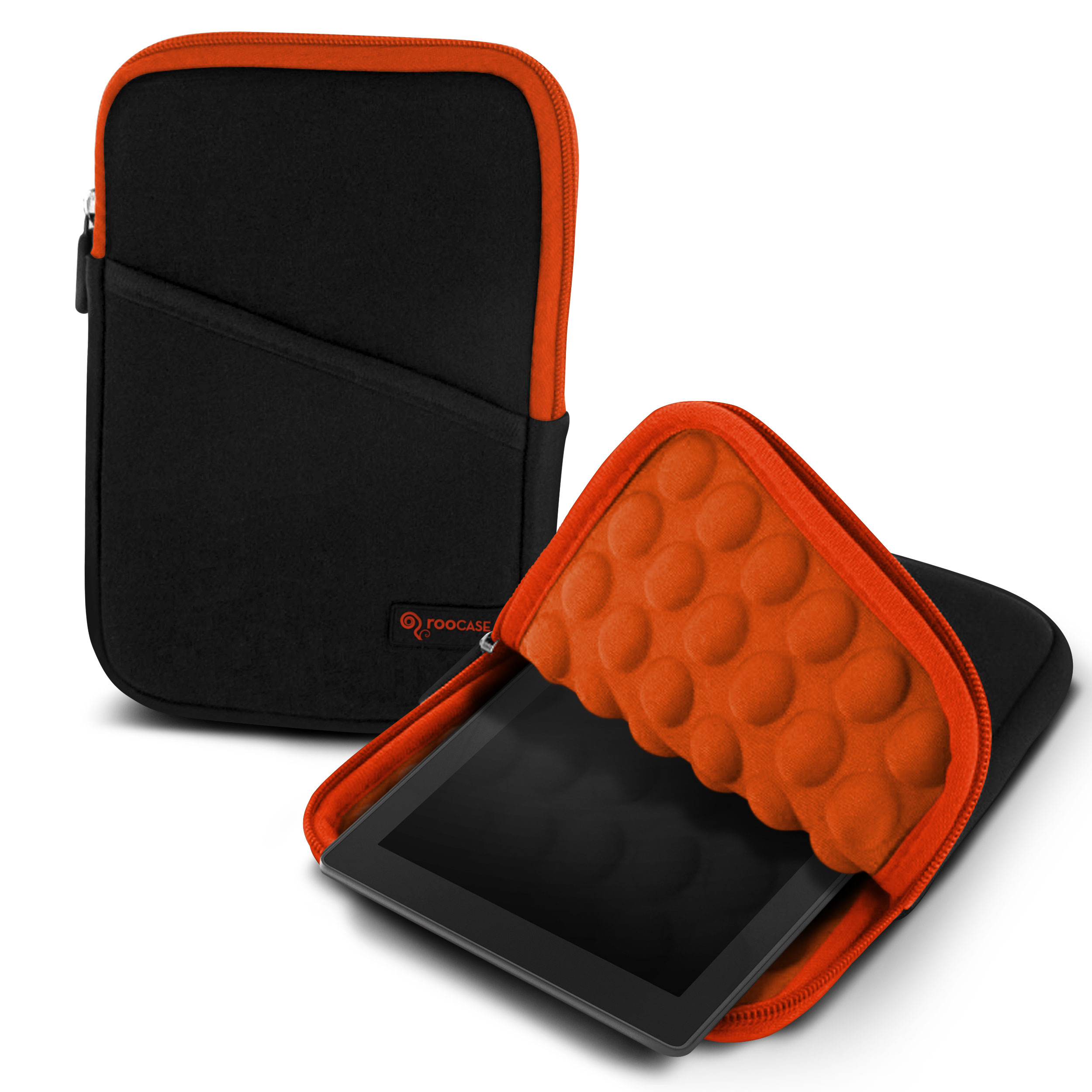 "roocase Bubble Sleeve Carrying Universal 7"" Tablet Case for iPad Mini Retina / Galaxy Tab 3 4 7.0 8.0 / Nexus 7 2013 / Asus MeMO Pad 7 ME173 ME176CX / HP 7 Slate Plus / Dell Venue Pro 7.0 8.0, Orange"