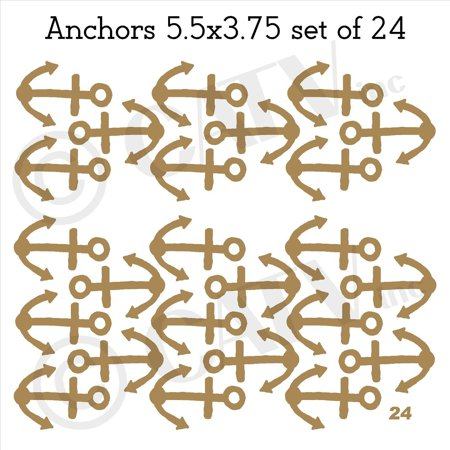 Anchors Vinyl Lettering Wall Pattern Decal Stickers (set of 24 5 5