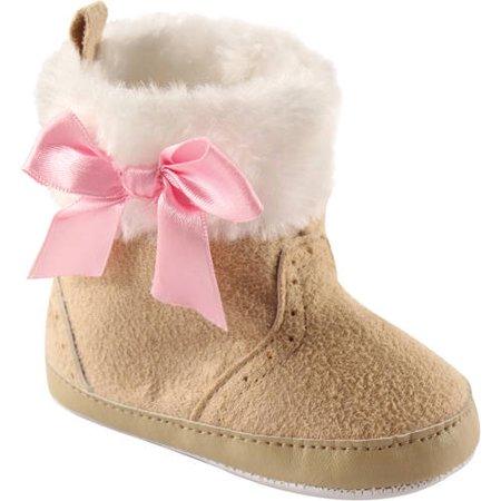 Newborn Baby Girls Fur Trim (Baby Fur Boots)