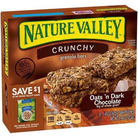 Nature Valley Oats 'n Dark Chocolate Crunchy Granola Bars 6-2 ...