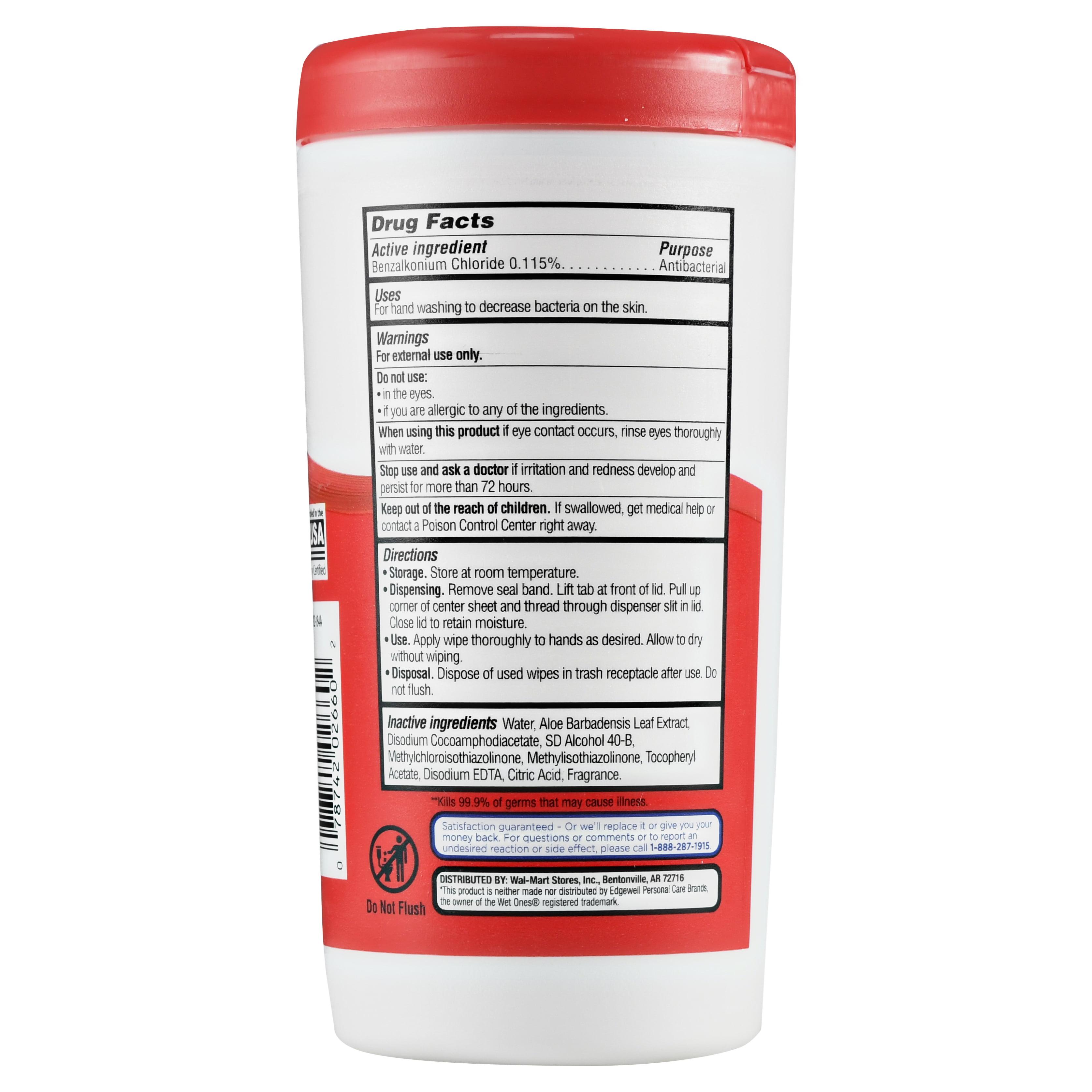 Equate Antibacterial Hand Wipes, Fresh Scent, 40 Ct - Walmart.com