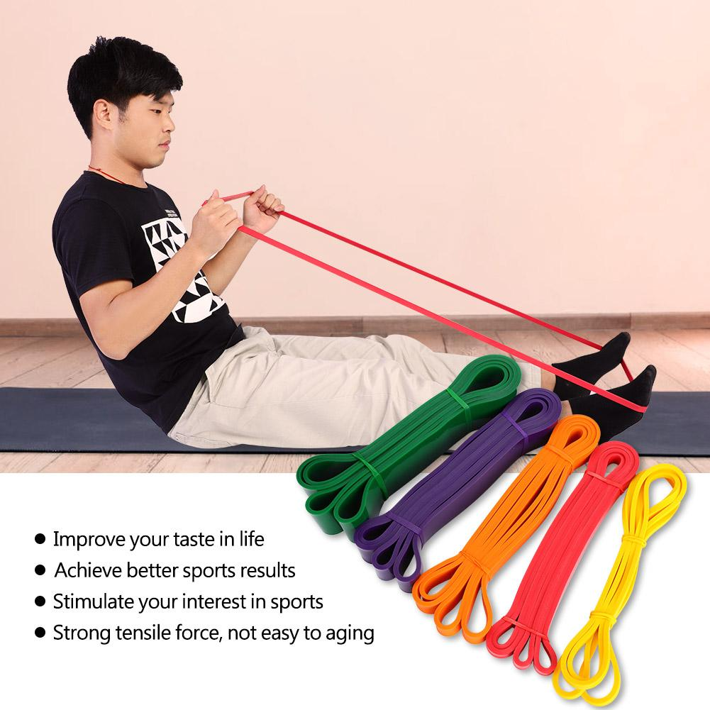 Yosoo 5 Pcs Yoga Resistance Loop Bands for Indoor/Outdoor Gym Fitness Sports Exercises, Heavy Resistance Band, Resistance Band Loop