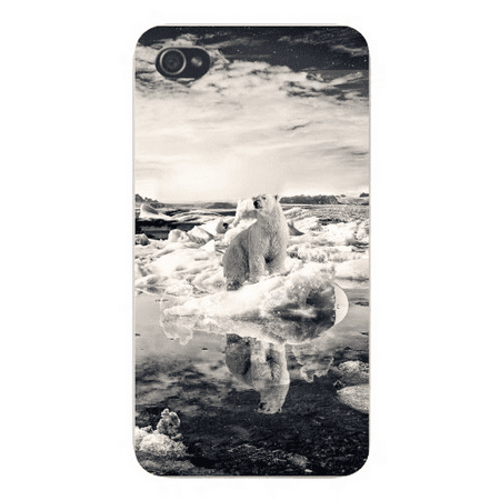 Ht Enterprises Polar Ice (Apple Iphone Custom Case 5 5s Snap on - Sad Polar Bear on Ice Floating in Water Global Warming Climate Change)