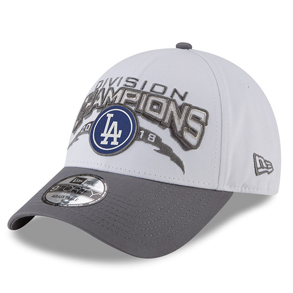 Los Angeles Dodgers New Era 2018 NL West Division Champions 9FORTY Adjustable Hat - Gray - OSFA