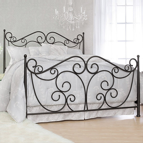 Serta Fancy Scroll King Metal Bed, Dark Bronze