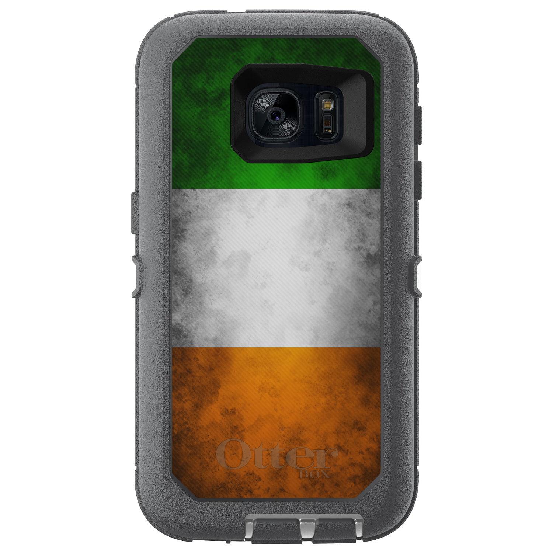 DistinctInk™ Custom Grey OtterBox Defender Series Case for Samsung Galaxy S7 - Ireland Old Flag