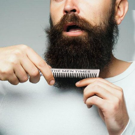 Ejoyous Gentleman Shape Stainless Steel Portable Pocket Beard Shaving Comb Mustache Hair , Portable Beard Comb, Shaving Comb - image 6 of 8