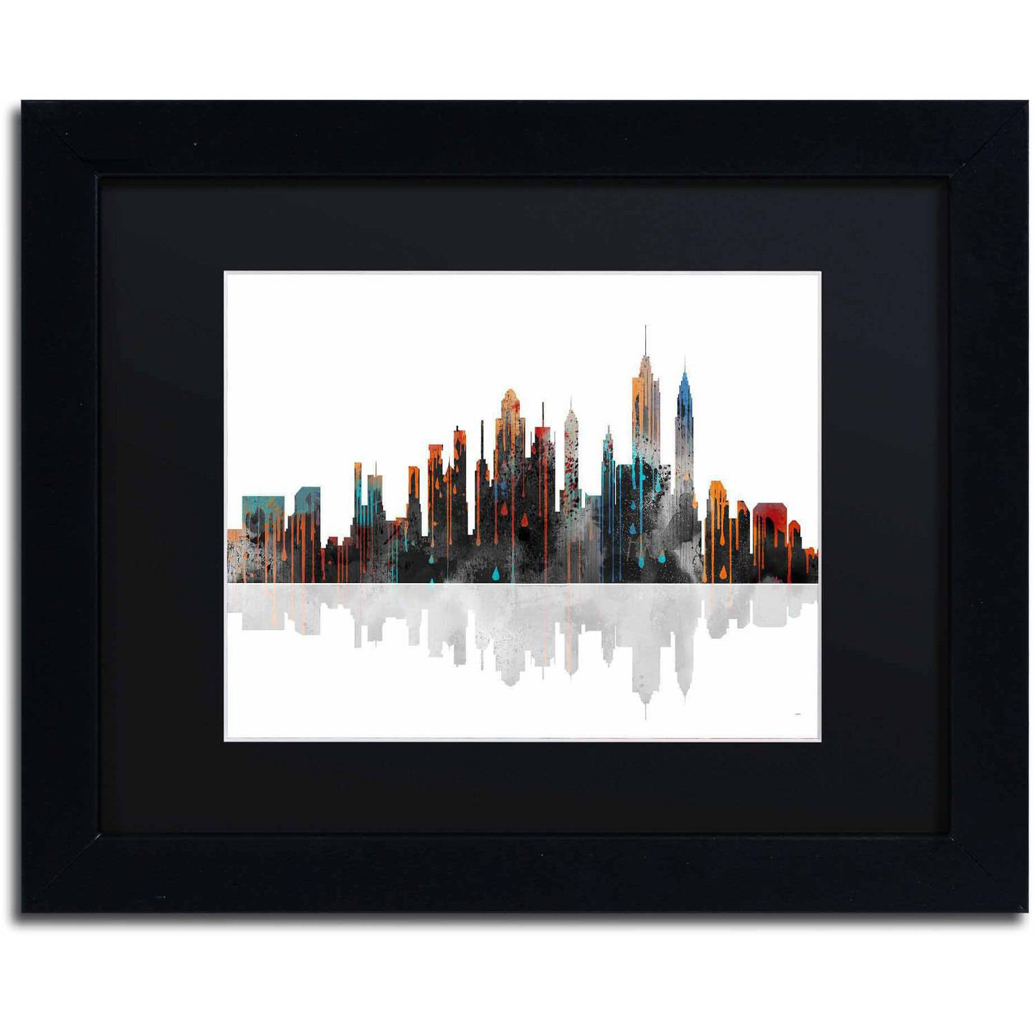 "Marlene Watson ""New York New York Skyline"" Matted Framed Art"