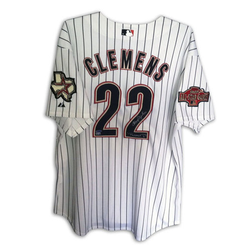"""MLB - Roger Clemens Houston Astros Autographed Authentic Majestic Jersey Inscribed """"Rocket"""" and """"Cy 7"""""""