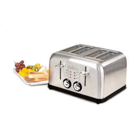 Salton Electronic Stainless Steel Toaster, 4 Slice