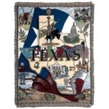"State Of Texas 50"" x 60"" Tapestry Throw Blanket From Simply Home"