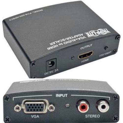 Tripp Lite Vga With Rca Stereo Audio To Hdmi Converter/scaler - Functions: Video Scaling - 1920 X 1440 - Vga - Audio Line In - External (p116-000-hdsc2)