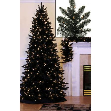 14 Pre Lit Slim Black Ashley Spruce Artificial Christmas