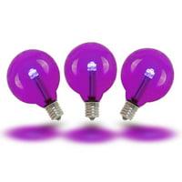 Novelty Lights 0.50 Watt, G40 LED Light Bulb, E12/Candelabra Base (Set of 25)