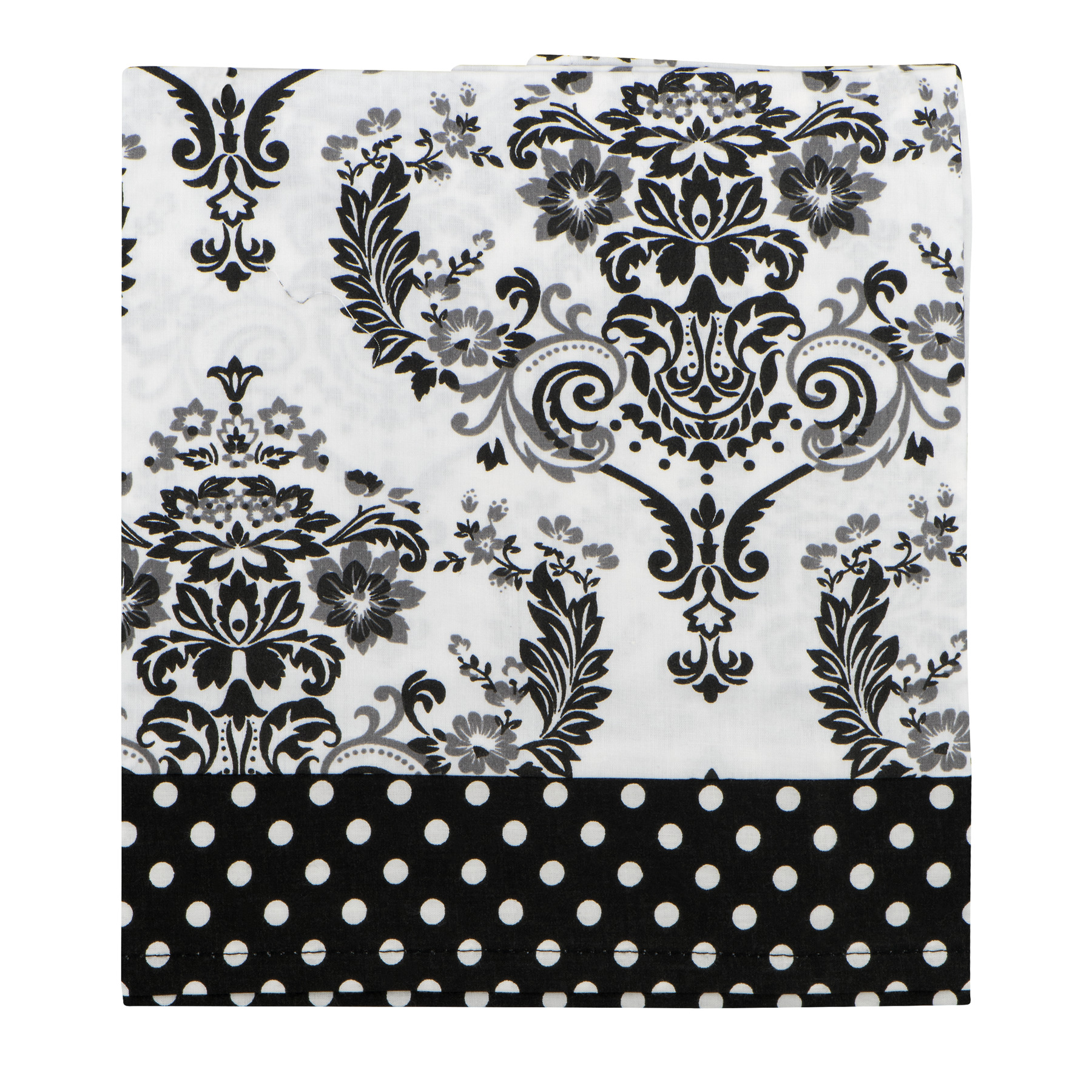 Bacati Window Valance Classic Damask White Black, 1.0 CT by Bacati