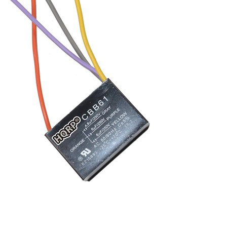 Hqrp Capacitor Works With Harbor Breeze Ceiling Fan 4 8uf