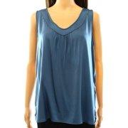 Classiques Entier NEW Blue Women's Size Medium M Silk Tank Blouse