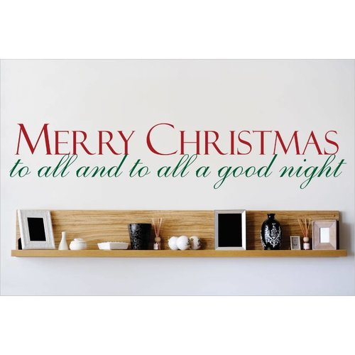 Design With Vinyl Merry Christmas To All and To All a Good Night Wall Decal