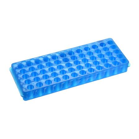 2 Pcs 2 Kind of Tube Rack Polypropylene 60-Well Blue for 0.2ml, 0.5ml, 1.5ml, 2ml - image 3 de 3