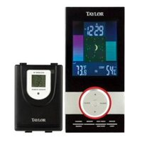 Taylor 1506 Wireless Color Weather Station With Clock