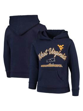 Girls Youth Russell Athletic Heathered Navy West Virginia Mountaineers Classic Fleece Pullover Hoodie