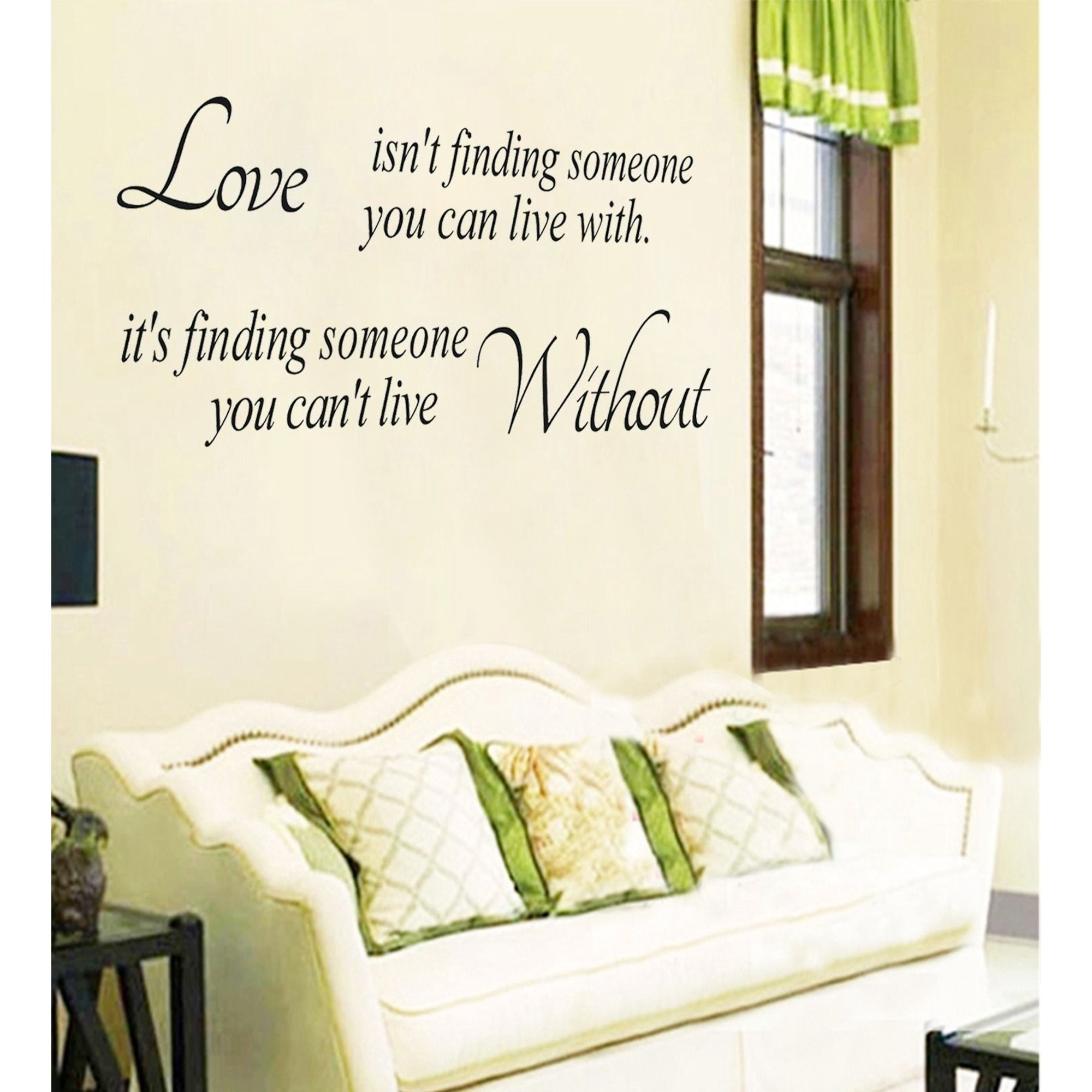 Wall Paper Quote Love Without Wall Art Vinyl Stickers Removable Diy Home Room Decor Decal Walmart Canada