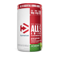 Dymatize All9 Amino Essential Amino Acids, Jolly Green Apple, 30 servings