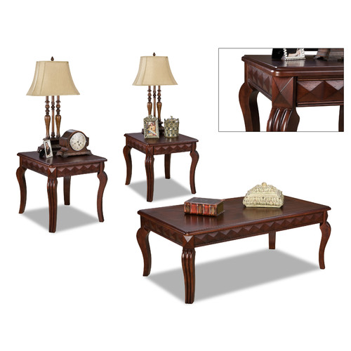 Brady Furniture Industries Champaign 3 Piece Coffee Table Set