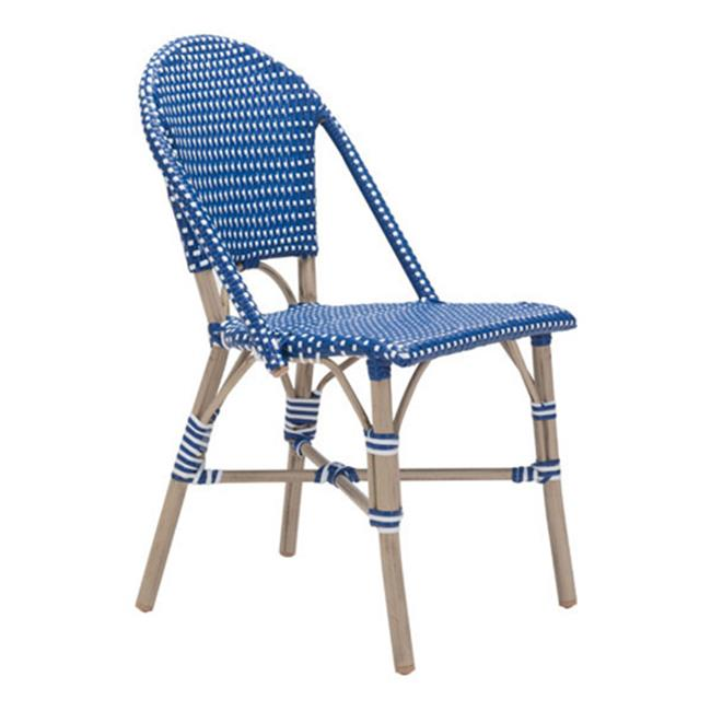Paris Dining Chair, Navy Blue & White - Set of 2 - image 1 of 1