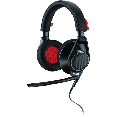 Plantronics RIG Flex Gaming Headset + Two Mic Options - Stereo - Black - Mini-phone - Wired - 20 Hz - 20 kHz - Over-the-head - Binaural - Circumaural - 5 ft Cable - Noise Cancelling Microphone