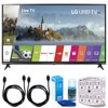 LG 55UJ6300 55  4K Ultra HD Smart LED TV (2017 Model) w/ Accessories Bundle Includes, SurgePro 6-Outlet Surge Adapter with Night Light, 2x 6ft. HDMI Cable & Screen Cleaner (Large Bottle) For LED TVs