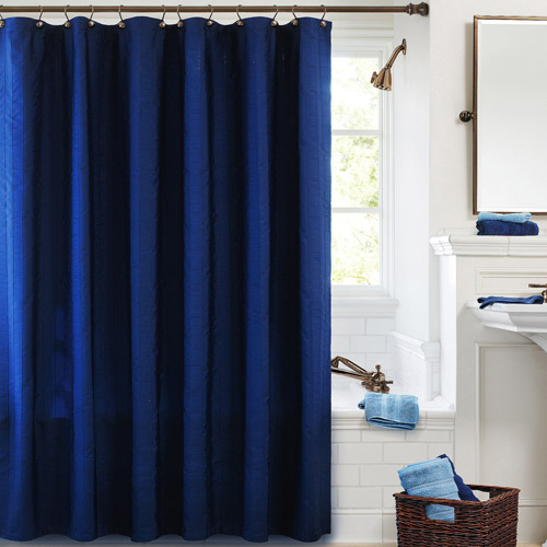 Better Homes & Gardens Gathered Stripe Fabric Shower Curtain, 1 Each