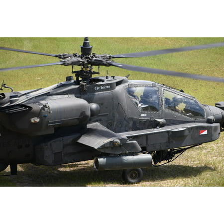 LAMINATED POSTER Apache Ah-64d Attack Helicopter Helicopter Aviation Poster Print 24 x