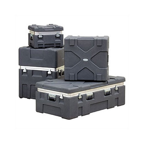 SKB Cases RX Series: Rugged Roto-X Shipping Foot Locker Case:  27 5/8'' H x 52 3/8'' W x 32 3/8'' D (outside)