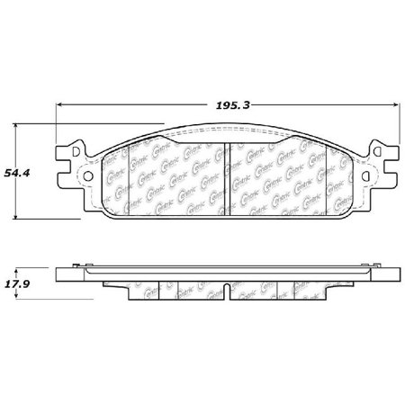 go-parts » 2011-2019 ford flex front disc brake pad set for ford flex (base  / sel) - walmart com