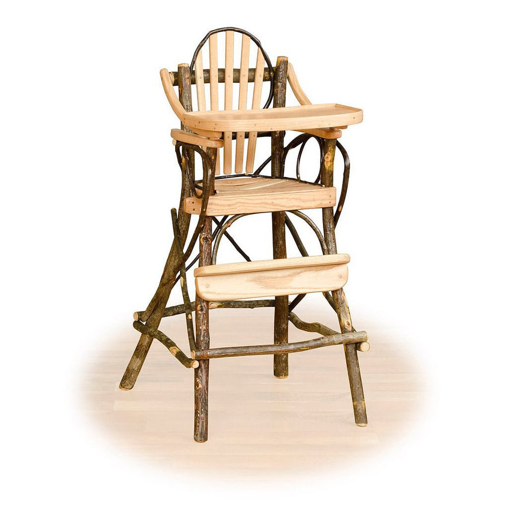 Kunkle Holding LLC Rustic Hickory and Oak Child's High Chair